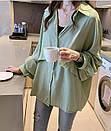 Женская нарядная модная блузка с широкими рукавами, размер, фото 4