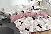 Полуторный комплект постельного белья 150*220 сатин_хлопок 100% (16139), фото 1