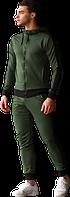 Спортивный костюм весна/осень/лето (премиум-класс) зеленый