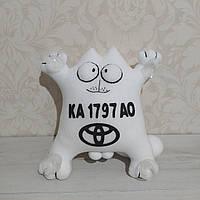 """Іграшка в машину """"Кіт Саймона"""" номерний знак Toyota 32 см"""