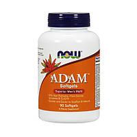 Витамины для мужчин NOW Adam 90 гелевых капсул Минеральный комплекс для спортсменов