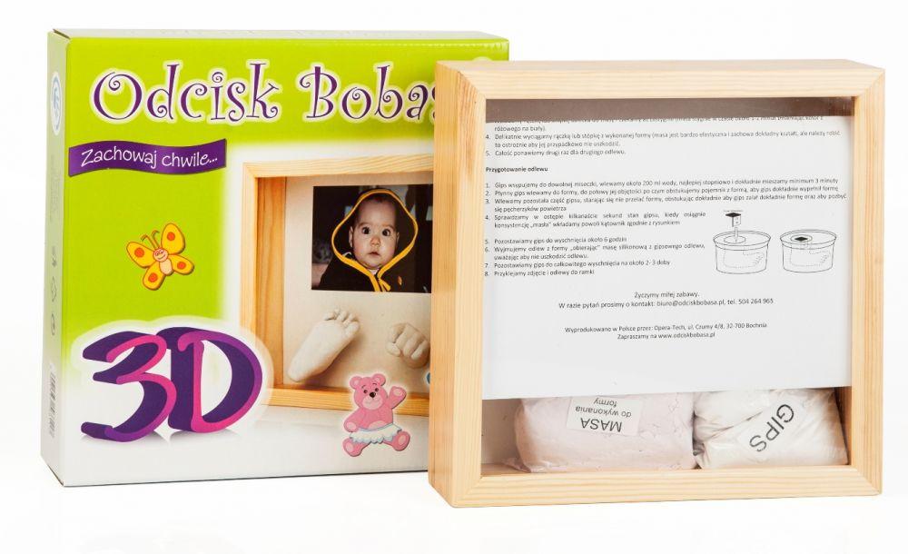 Odcisk Bobasa Отпечаток 3D и фоторамка