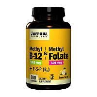 Витамин Б12 Jarrow Formulas Methyl B12 & Methyl Folate plus P-5-P B6 100 леденцов