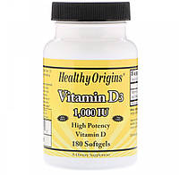 Витамин Д3 Healthy Origins Vitamin D3 1000 IU 180 гел капс