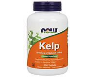 Бурая водоросль келп с йодом Now Foods Kelp 150 mcg 200 таб