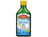 Омега 3 для детей Carlson Labs Cod Liver Oil 550 mg for kids 250 мл норвежские жирные кислоты