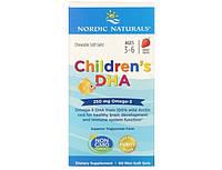 Жирные кислоты Омега 3 ДГК для детей Children`s DHA Nordic Naturals 180 мини гел капс