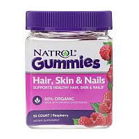 Для кожи волос и ногтей Natrol Gummies Hair, Skin Nails 90 конфет
