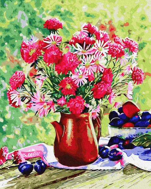 "Картина по номерам. Rainbow Art ""Цветы и сливы"" GX34321-RA"