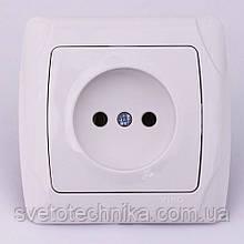 Розетка электрическая VI-KO Carmen скрытой установки одинарная без заземления (белая)