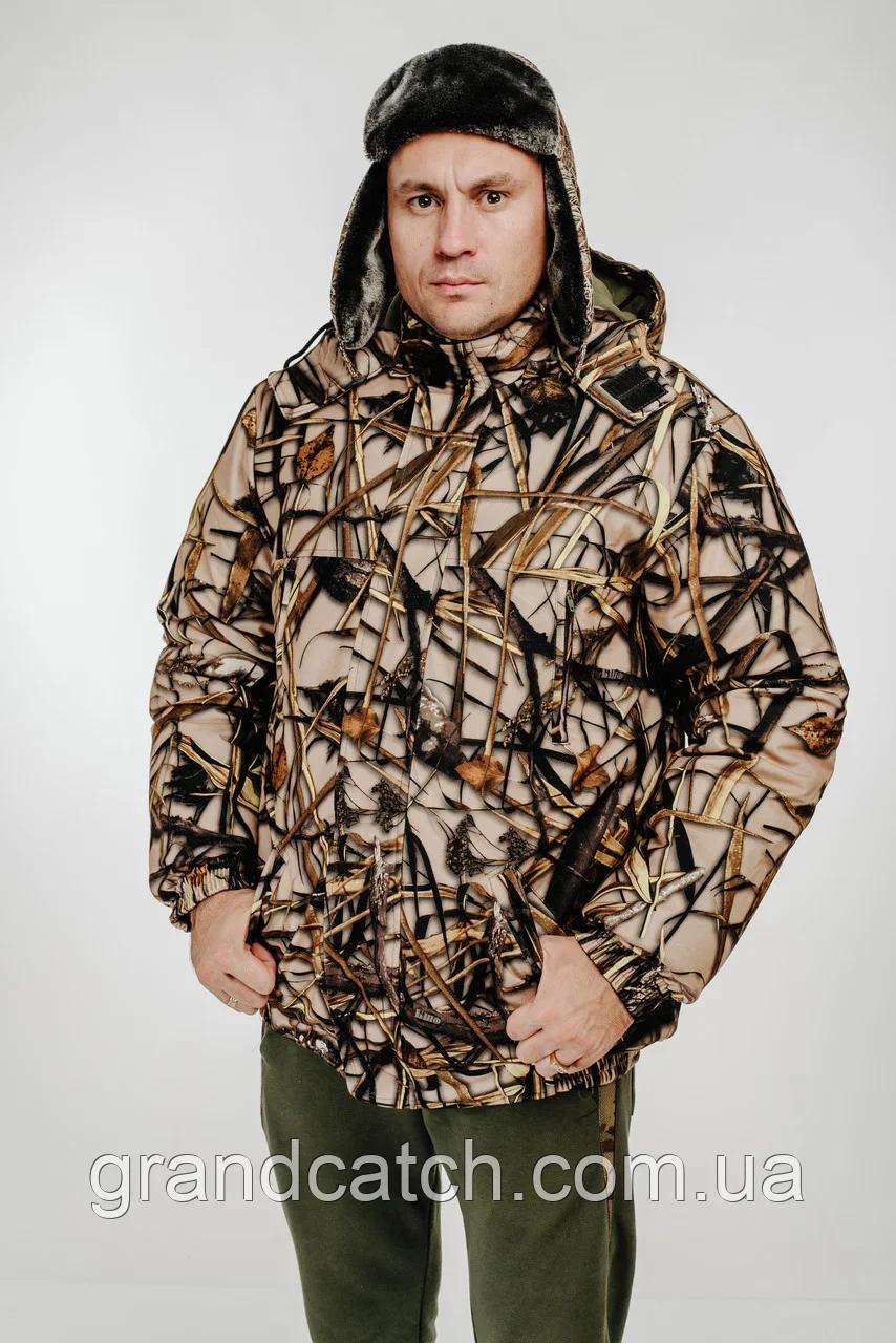 Одежда для активного отдыха Зимние куртки Пилот мембрана на флисе Лес микс