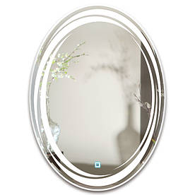 Зеркало овальное с LED подсветкой SmartWorld Koriza 50x70x3 см (1037-d1-50x70x3)