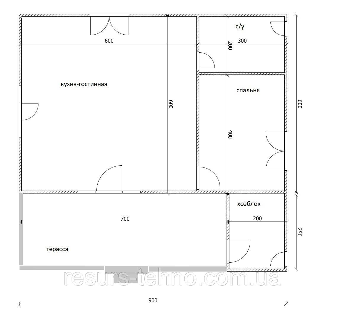 Будинок дачний 6м х 9м