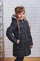 Пальто зимнее для девочки черное, фото 1