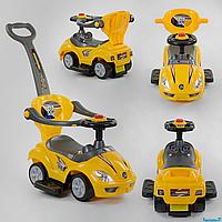 Машинка-толокар JOY 9630 - Y с ручкой желтый цвет