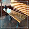 Обідній стіл з Бразильського граніту Блю Фаєр (Blue Fire).