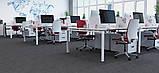 Стол рабочий двухцветный Quattro 1200*600*740h, фото 2