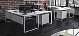 Стол рабочий двухцветный Quattro 1200*600*740h, фото 3