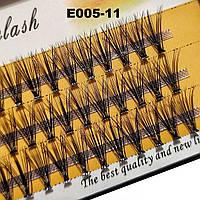 Ресницы Nesura Eyelash 20D, 11 мм, изгиб C, 0,07, 60 пучков Несура накладные ресницы