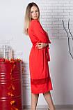 Халат шовковий Х904 110 см Червоний, фото 2