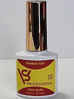 Каучуковый топ без липкого слоя для гель лака и наращивания ногтей гелем Ruber Top Non-Wipe SV 8ml