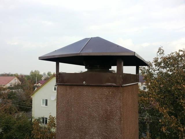 Вентиляционный дефлектор для вентиляции топочной. Стабилизирует тягу  в естественном канале вентиляция.