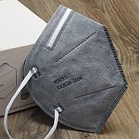 Многоразовый Респиратор KN95 в индивидуальной упаковке (серый). Защитная фильтр-маска КН95. Купить
