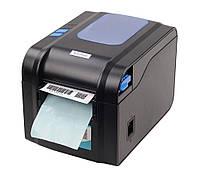 Принтер чеков, наклеек и этикеток Xprinter XP-370B (с отделителем, совместим с 1С и Новой почтой)