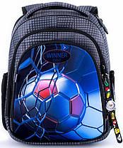 Школьный ранец ортопедический для мальчика в 1-3 класс рюкзак каркасный Winner One 5007, фото 2