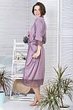 Комплект шовковий піжама з халатом 110 см К1081п, фото 4