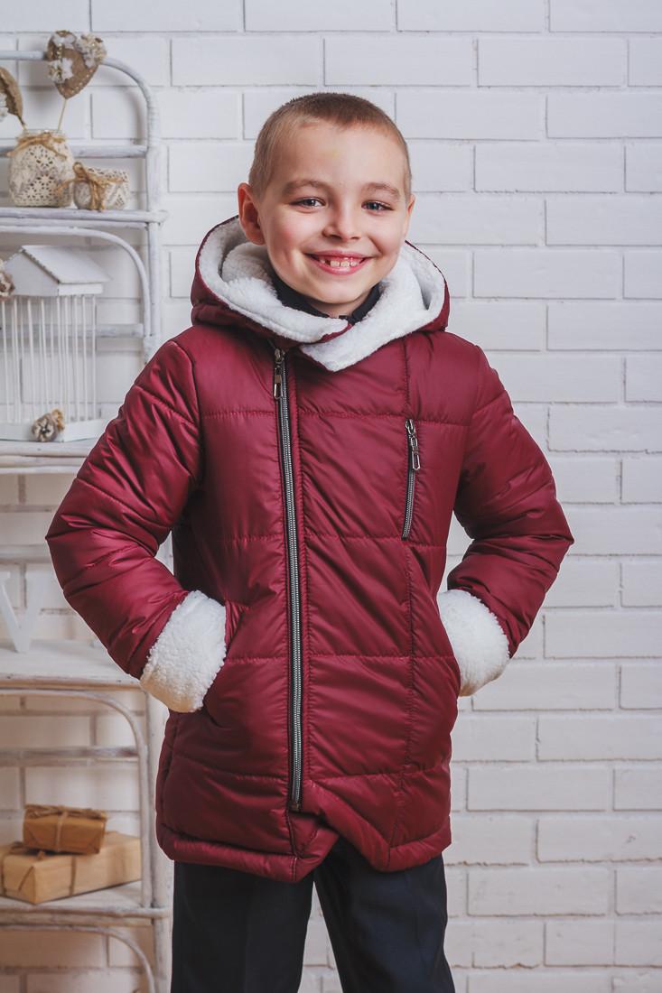 Куртка зимняя для мальчика бордо