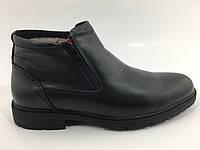 Мужские кожаные зимние ботинки на цигейке, фото 1