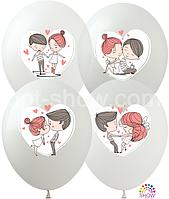 """Воздушные шары """"Love is... """" 12""""(30 см) пастель ассорти В упак: 100шт ТМ Арт «SHOW»"""