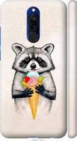 Силиконовый чехол на Xiaomi Redmi 8 Енотик с мороженым