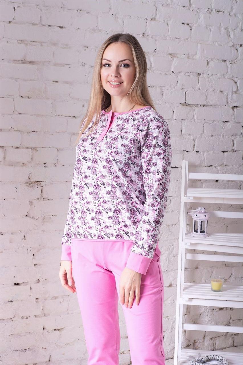 Комплект брючний для дома П1204 Принт цв.+ рожевий