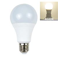 Лампочка светодиодная 10Вт E27 4000K A60 1020LM LM264, фото 1