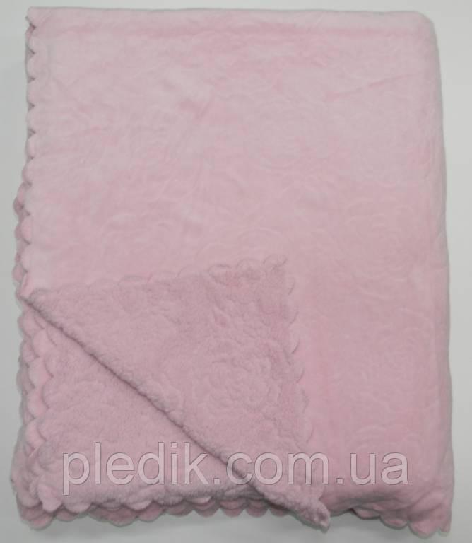 Покрывало меховое 220х240 короткий ворс Shining Star DCT249-8 розовый