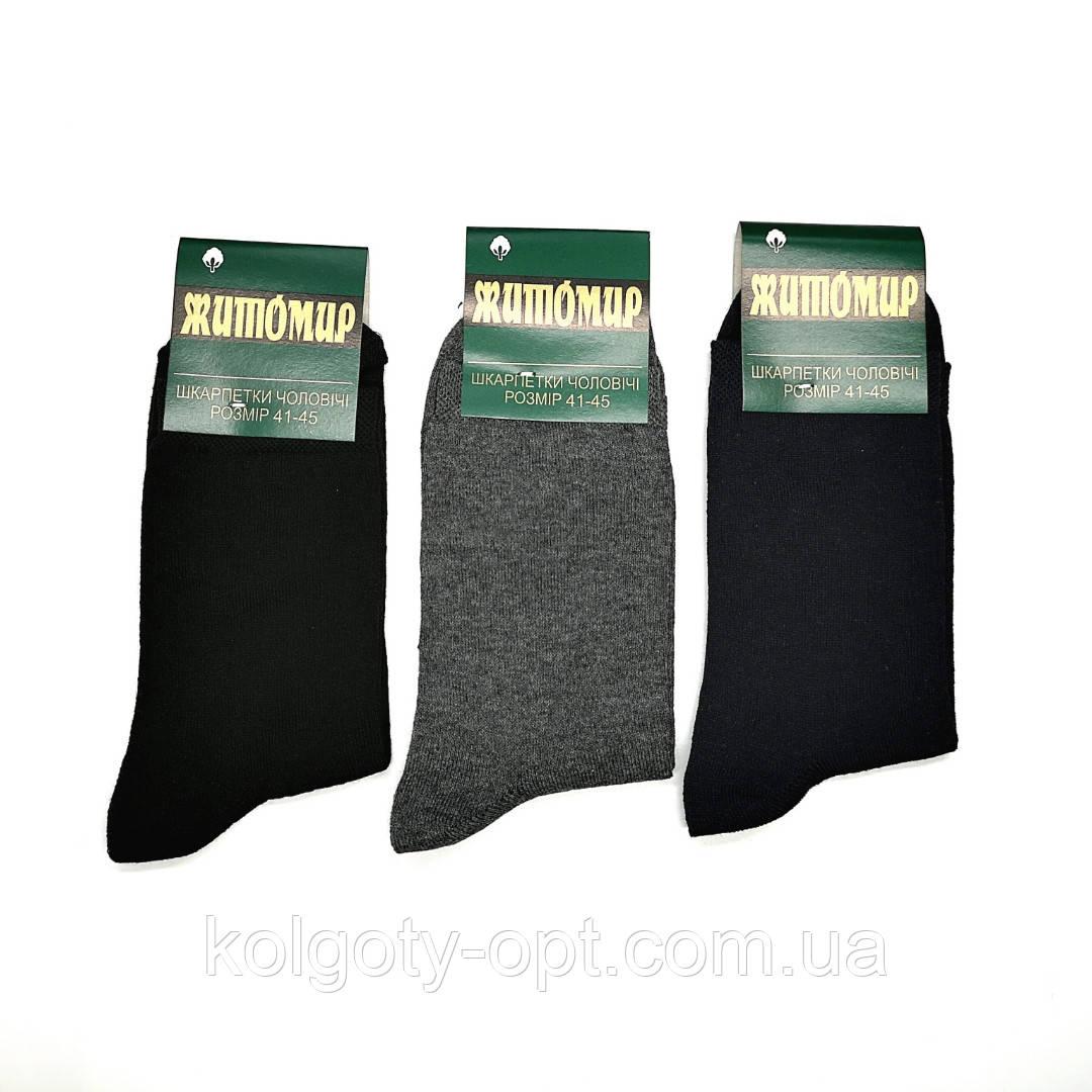 Носки высокие мужские хлопковые Житомир стрейч размер 27-29