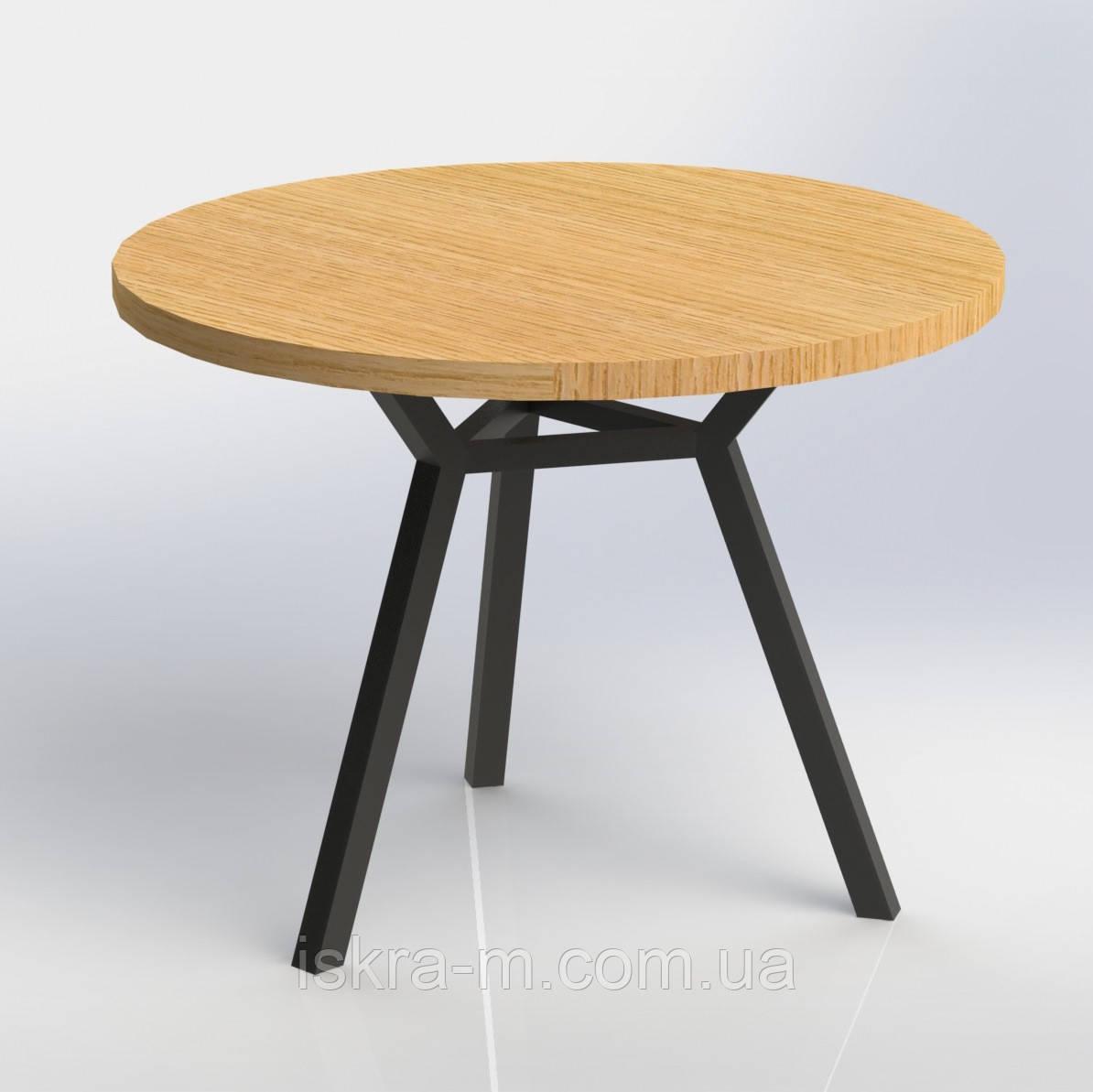 Стол обеденный круглый лофт