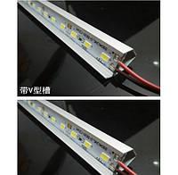 Стрічка світлодіодна 5630 аллюминиевая, на твердій основі, 12V, 6500K,72LED, White, ціна за метр