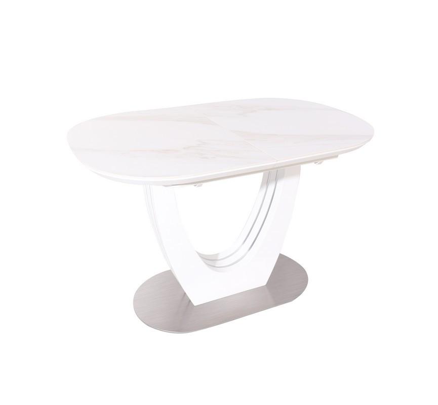 Стол ТМL-865-1 (Белый Мрамор) 1200(+400)*800