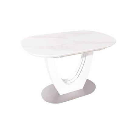 Стол ТМL-865-1 (Белый Мрамор) 1200(+400)*800, фото 2