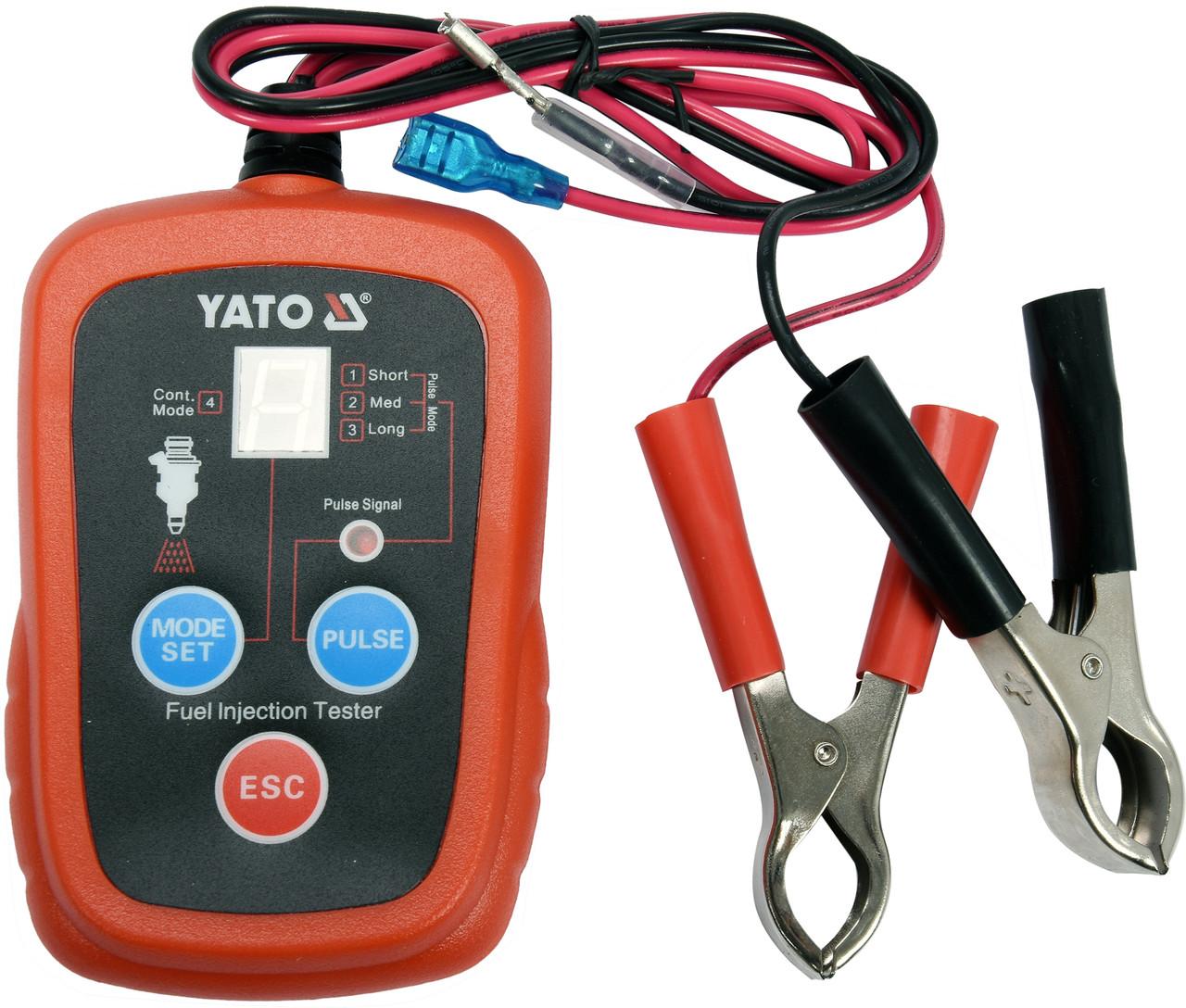 Електронний тестер форсунок для бензинових двигунів YATO YT-72960
