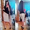 Стильная юбка с эко-кожа,в расцветках, фото 3
