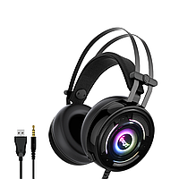 Геймерські навушники iPega PG-R008 з RGB підсвічуванням (Чорний)