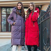 Женская зимняя куртка-пальто на пуху, фото 1