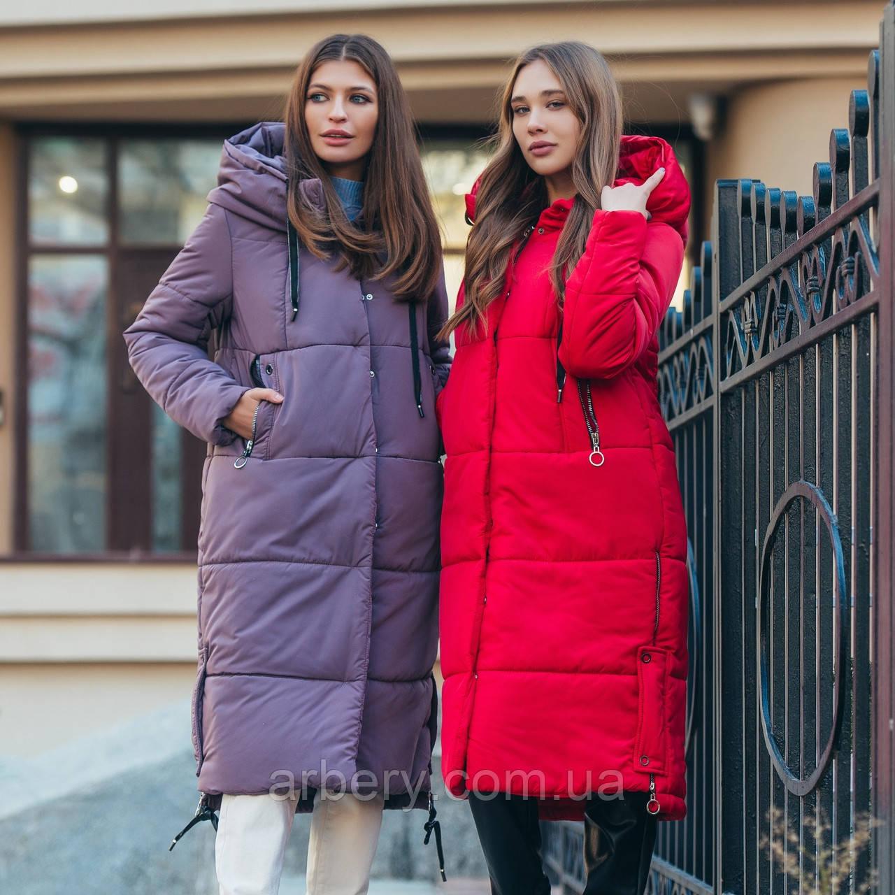 Женская зимняя куртка-пальто на пуху
