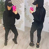 Жіночий модний велюровий спортивний костюм з капюшоном (Норма), фото 4