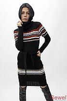 Женское вязаное платье, фото 2