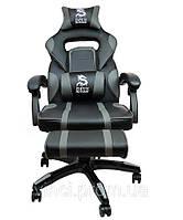 Поворотний стул кресло спортивное DEUS LARGE сіре Ігрове Геймерское кресло ігровий стілець для гравців